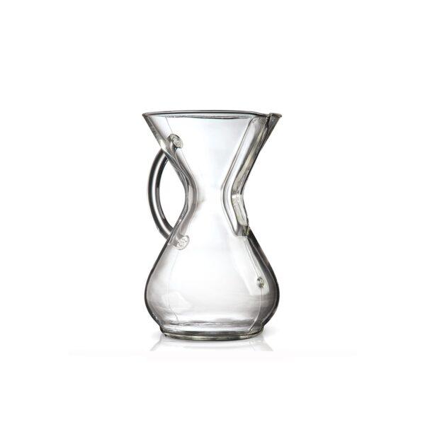 CHEMEX 6 filiż ze szklaną rączką