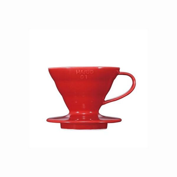 driper ceramiczny, Hario V60 01, czerwony