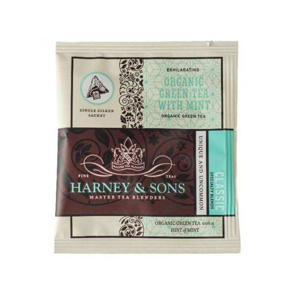 Herbata Harney Jedwab Organic Green Mint Kop.