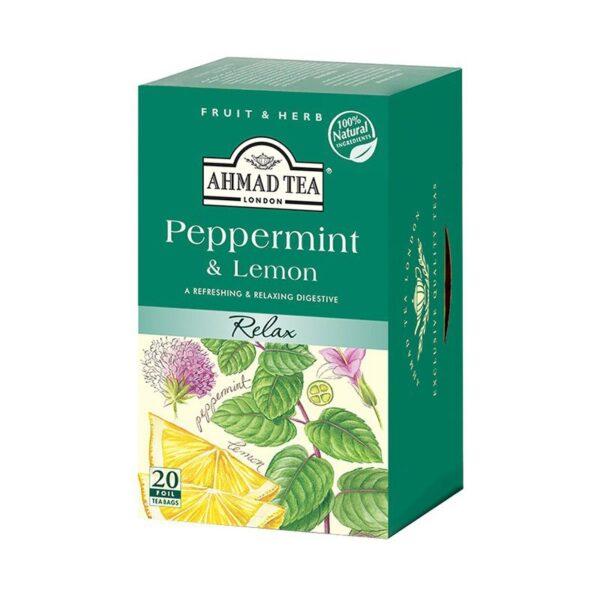 Herbata AHMAD cytryna & mięta 20 szt. koperta alu