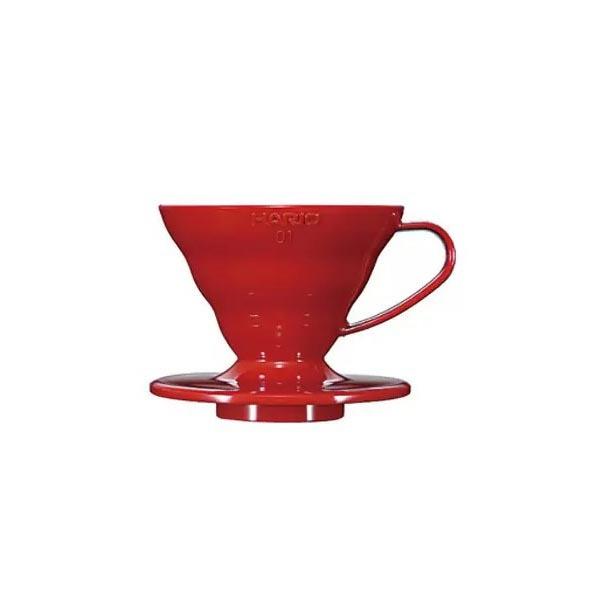 dripper plastikowy Hario V60 01 czerwony