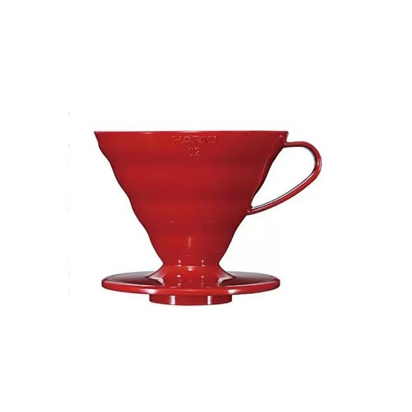 driper plastikowy Hario V60 02, czerwony