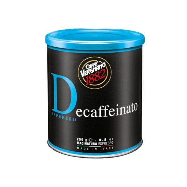 Kawa VERGNANO bezkofeinowa mielona puszka 250 g