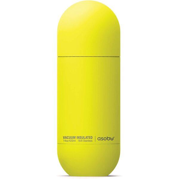 Asobu Orb Bottle 420ml Yellow kubek termiczny