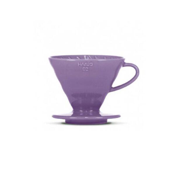 dripper ceramiczny Hario V60 02 purpurowy + filtry