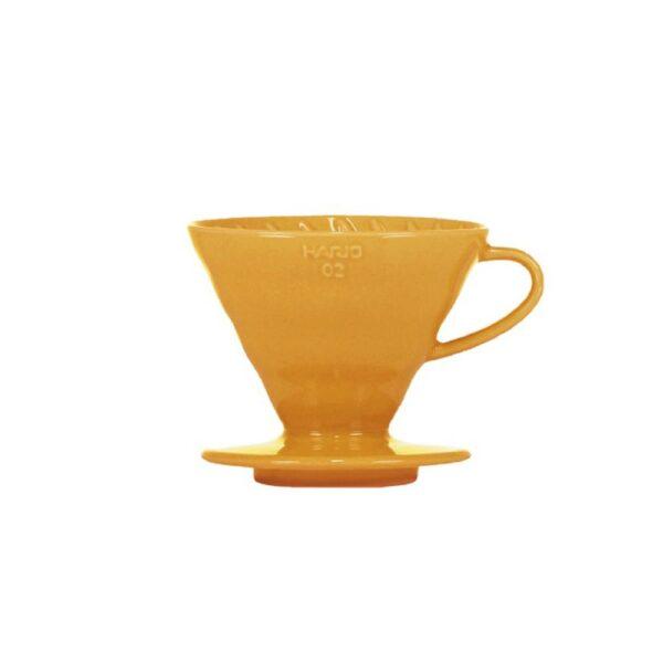 dripper ceramiczny Hario V60 02 orange + filtry