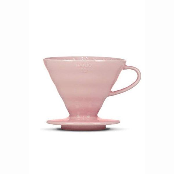 driper ceramiczny Hario V60 02 różowy + filtry