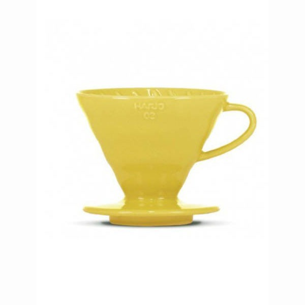 driper ceramiczny Hario V60 02 żółty + filtry