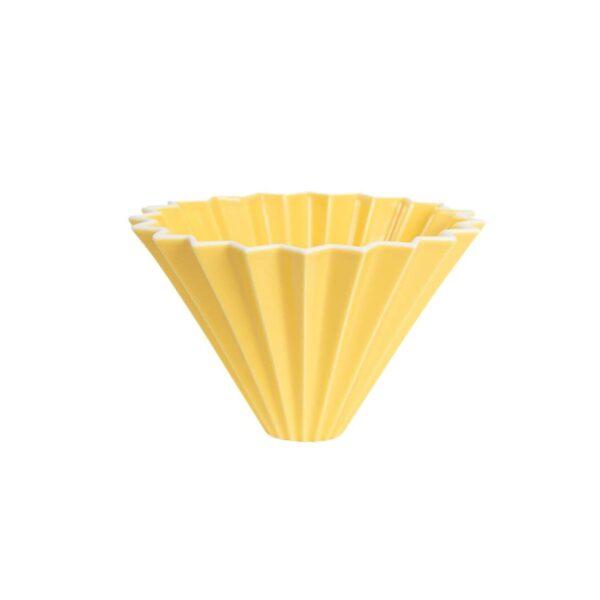 driper Origami S, ceramiczny, żółty