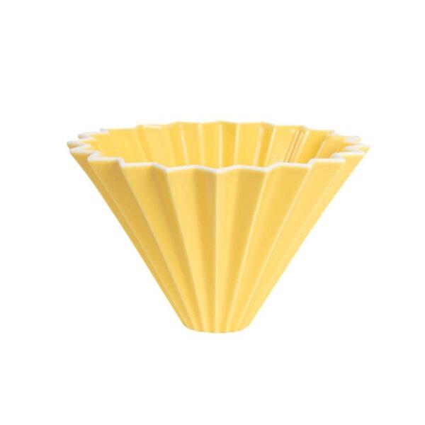 driper Origami M, ceramiczny, żółty