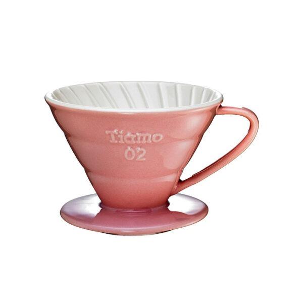 driper ceramiczny Tiamo V01, różowy