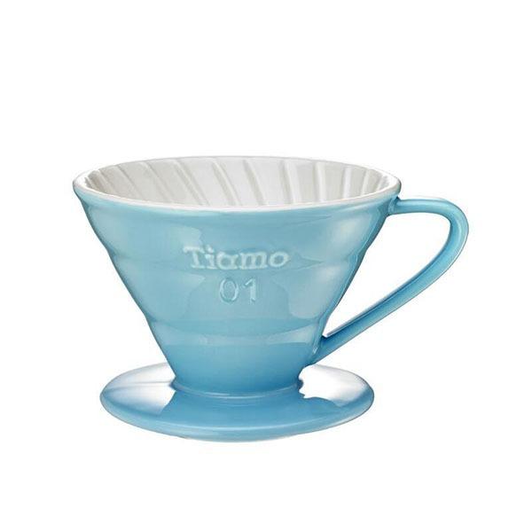 driper ceramiczny Tiamo V01, niebieski jasny