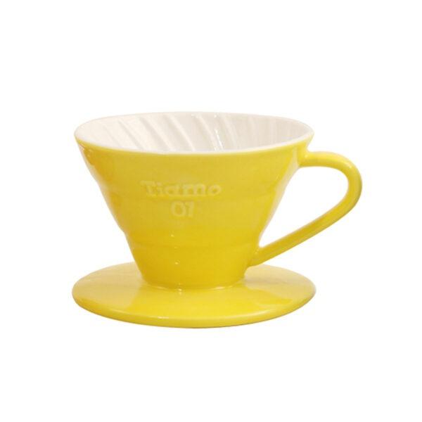 driper ceramiczny Tiamo V01, żółty
