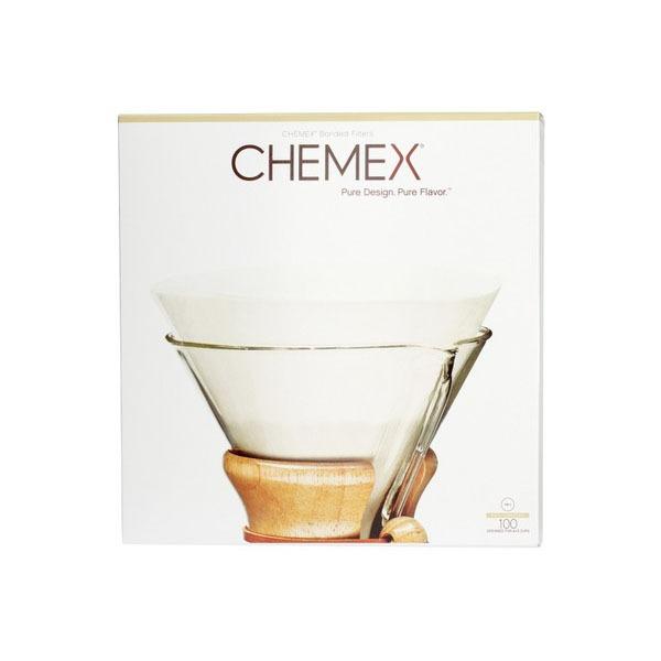 filtr papierowy do Chemexa okrągły biały rozkłożony, 100szt.