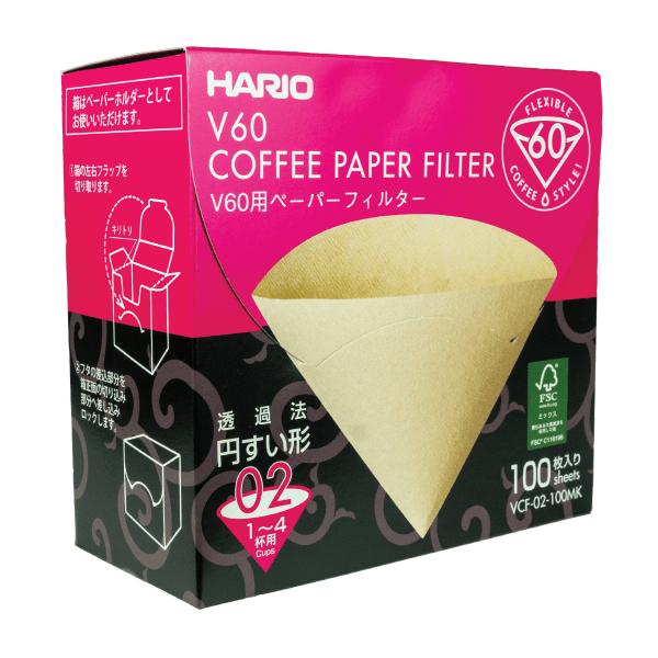 filtry pap. box Misarachi V60-02, 100 szt.