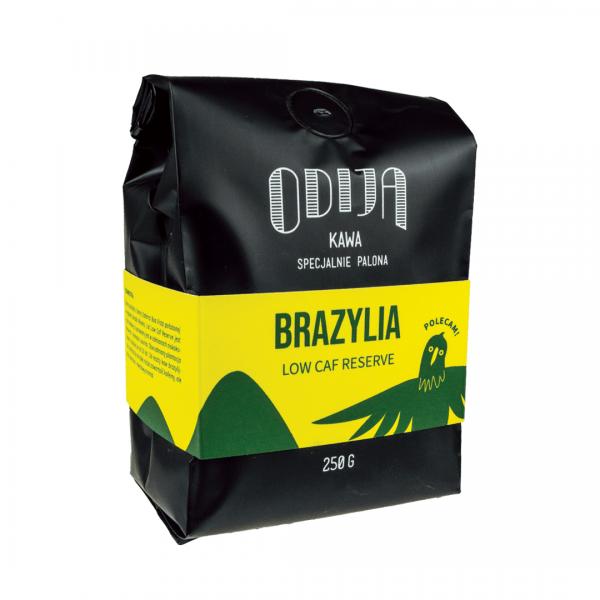 kawa ODIJA Brazylia Low Caf Reserve, ziarno, 250g, filtr